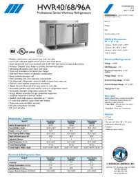 HWR40 68 96A Specifications Sheet