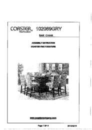102069GRY Assembly Instructions