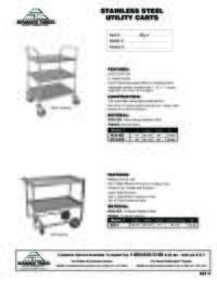 Utility Carts Spec Sheet