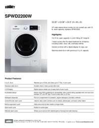 Brochure SPWD2200W