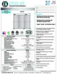CR3S HS Specifications Sheet
