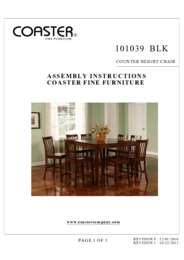 101039BLK Assembly Instructions