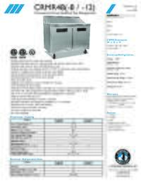CRMR48 8 12 Specifications Sheet