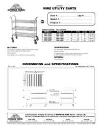 Wire Utility Cart Spec Sheet