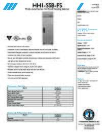 HH1SSBFS Specifications Sheet