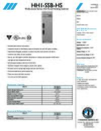 HH1SSBHS Specifications Sheet