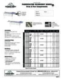 Fabricated Sinks Spec Sheet