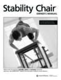 Stability Chair User Manual