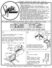 Side Chair Assembly Guide