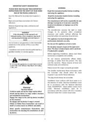 Installation, Use and Care Manual