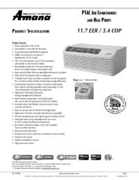 Amana Pth153g35axxx Ptac Air Conditioner Cooling Area