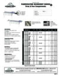 Fabricated Sinks Spec Sheet