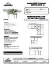 Corner Sink Spec Sheet