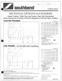 Sectional Options and Accessories Spec Sheet