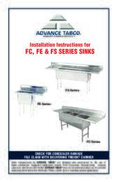 Installation Instructions for FC, FE, and FS Sinks