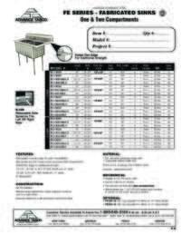 Lite Series Sink Spec Sheets