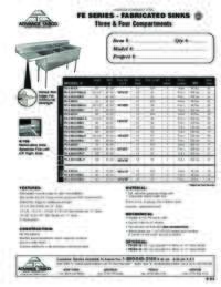 Lite Series Sink Spec Sheets