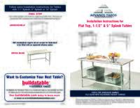 Installation Instructions for Work Tables