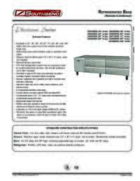 Refrigerated Base   Remote Condenser Spec Sheet