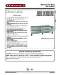 Refrigerated Base   Self Contained Spec Sheet