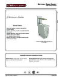 Sectional Drain Cabinet Spec Sheet