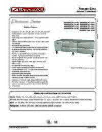 Freezer Base (Remote Condenser) Spec Sheet