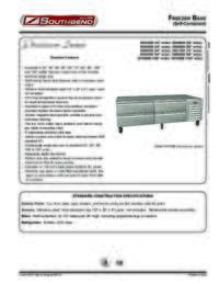Freezer Base (Self Contained) Spec Sheet