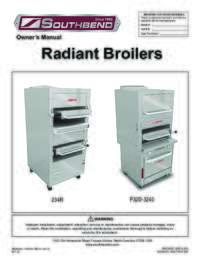 Platinum Series Radiant Broiler User Manual