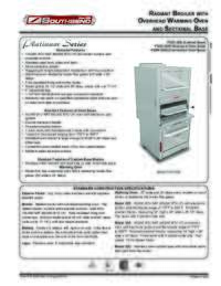 Radiant Broiler Spec Sheet