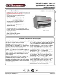 Salamander Radiant Broiler Spec Sheet