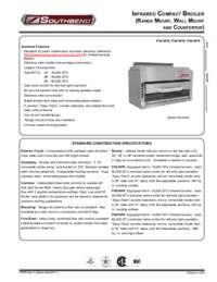 Salamander Infrared Broiler Spec Sheet