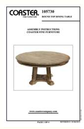 Round Dining Table Assembly