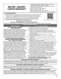 MVWC565FW Warranty EN