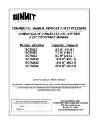 SCFM Freezer Manual Engl French