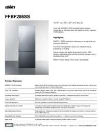 Brochure FFBF286SS