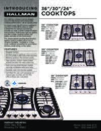 Gas Cooktop Spec Sheet