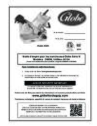 Globe 3000N Series Owner's Manual (French)