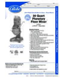 30 Qt Mixer Spec Sheet