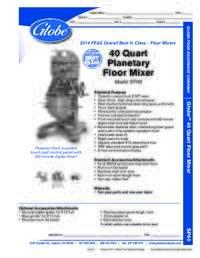 40 Qt Mixer Spec Sheet