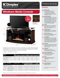 DFP25HL MA1015  DFP25CG MA1015 Windham Media Console Sell Sheet