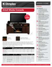 GDS25G Arkell Media Console Sell Sheet