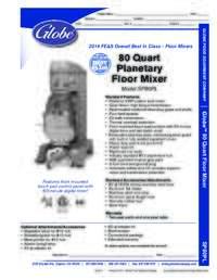 80 qt Mixer Spec Sheet