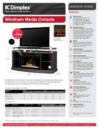 GDS25CG 1015SC , GDS25HL 1015SC Windham Media Console Sell Sheet