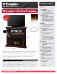 GDS25HL 1057E , GDS25HG 1057E Montgomery Media Console Sell Sheet
