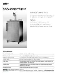 SBC490DPLTRIPLE Spec Sheet