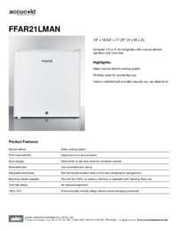 FFAR21LMAN Spec Sheet