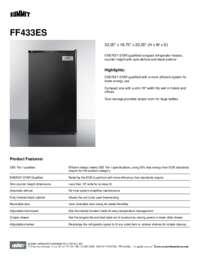 FF433ES Spec Sheet