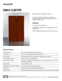 CM411LBI7FR Spec Sheet