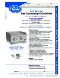 Charbroilers Spec Sheet