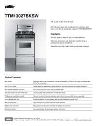 TTM13027BKSW Spec Sheet